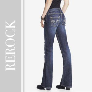 ReRock for Express Thick Stitch Boot Cut Jean